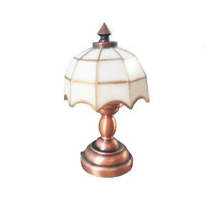 Dollhouse Electron Control LED Table Lamp 1:12 Miniature Decoration
