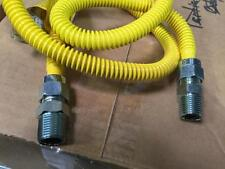 "NATURAL GAS HOSE KIT . 1/2"" BY 48"" NEW BOX OF 6 TOTAL."