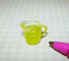 Miniature Clear Plastic Measuring Cup Filled with Cooking Oil: DOLLHOUSE 1/12