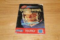 Nintendo NES Tecmo Super Bowl Instruction Manual Only- No Game