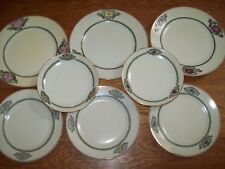 HTF Nippon 8 art deco salad dessert, bread plates, saucers signed dated 1920, 21
