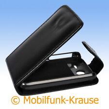 Flip Case Etui Handytasche Tasche Hülle f. HTC Wildfire S (Schwarz)