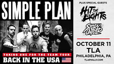 "SIMPLE PLAN ""TAKING ONE FOR THE TEAM TOUR"" 2016 PHILADELPHIA CONCERT POSTER"