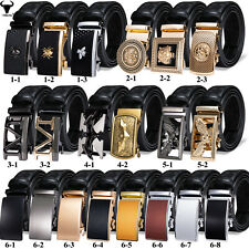 Top Quality Belts For Men Black Leather Ratchet Waistband With Removable Buckle