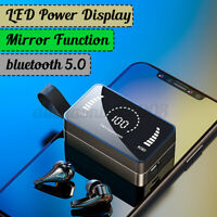 bluetooth 5.0 TWS Kopfhörer LED Power Display Spiegelbildschirm Stereo Headset