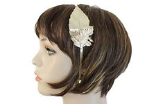 New Women Headband Wessing Calssy Look Long Gold Metal Leaf Charm Fashion Hair