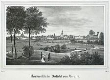 LEIPZIG - Gesamtansicht - Nordwestliche Ansicht - Saxonia - Lithografie 1836