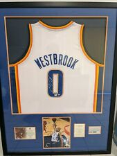 Framed Signed Russell Westbrook jersey and photo