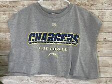 CHARGERS San Diego Sleeveless T-Shirt Cutoff Gray NFL Mens XL Vintage Shirt