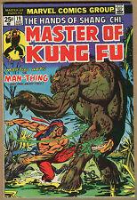 Master Of Kung-Fu #19 - Versus Man-Thing - 1974 (Grade 9.0) WH