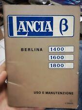 Manuale Uso E Manutenzione Lancia Beta B  1400 1600 1800 auto automobile 1973