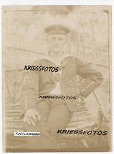 Portrait Marine Soldat SMS Bluecher Kriegsschiff Foto 1 WK