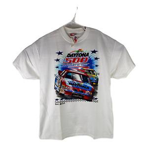 2003 Daytona 500 The Great American Race Chase Size Large White T-Shirt Nascar
