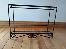 Longaberger Wrought Iron Media Rack Stand Two tiered NEW