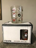 NEW SET OF 4 CULVER POTPOURRI CHRISTMAS HOLIDAY OLD FASHIONED GLASSES TUMBERS