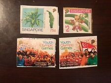 Set of 4 Singapore Stamps - See Description; Used