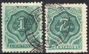 ECUADOR 1896 POSTAGE DUE STAMP Sc. # J 1/2 USED