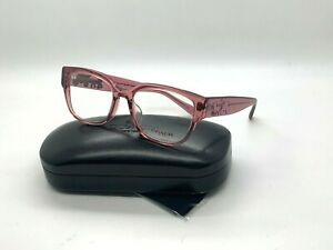 Coach Women New Eyeglasses HC6126F 5527 TRANSPARENT PINK 52-18-140