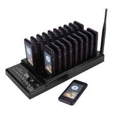Wireless Restaurant 20 Coaster Pager Guest Paging Queuing System For Bakery Cafe