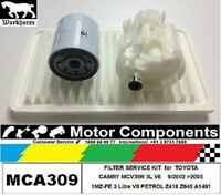FILTER SERVICE KIT for TOYOTA CAMRY MCV36R 3L V6 1MZ-FE 9/02 > 2005