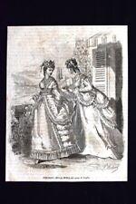 Figurino della moda del mese di luglio Incisione del 1869