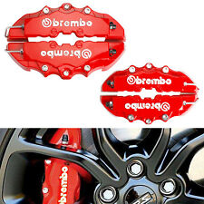 4x Disc Brake Caliper Covers Parts Tool Front Rear 3D Brembo Car Truck Set Red (Fits: Volvo 740)