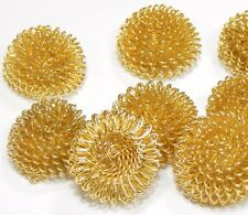 10 metal perlas filigrana perlas aproximadamente 20mm Gold alambre perlas spacer m35g