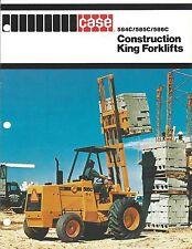 Fork Lift Truck Brochure Case 584c 585c 586c Construction King Lt274