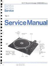 Philips Service Manual für 22 GC 006 Part 1 mit Ergänzung 22 GA 406  Copy