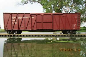 ALL NATION D&RGW 50 FOOT OUTSIDE BRACED BOXCAR -1 1/2 Doors