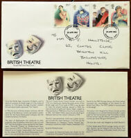 British Theatre Royal Mail First Day Cover + Insert 28 April 1982