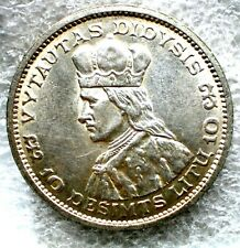 1936 Lithuanian coin  10 litai,KM#83,5460
