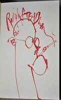 RALPH STEADMAN ORG SIGNED DRAWING~FEAR AND LOATHING IN LAS VEGAS~HUNTER THOMPSON