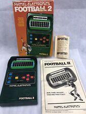 MATTEL ELECTRONICS 1978 FOOTBALL 2 HANDHELD ELECTRONIC GAME W/ BOX TESTED WORKS!