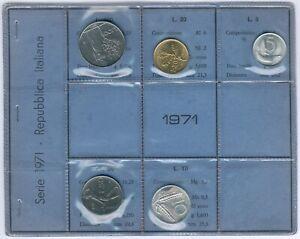 Italy 5Item´s/Coinset 1971 UNC.-