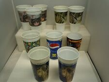 STAR WARS PLASTiC CUP LOT (10) 19?? VTG Various Sizes Taco Bell 7 Eleven Pepsi