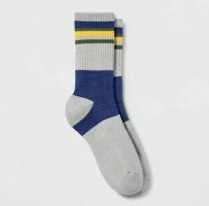 Target Men's Socks Pair of Thieves Casual Socks Gray/Blue/Gold NEW!