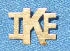 1950's Scarce Eisenhower IKE President Campaign 14K Pin Political Memorabilia