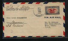 US  Alaska  ,  Chingnik   airmail cover  1941, arrival Apr  29          MS0220