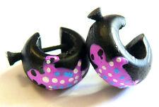 Boucles d oreilles Créoles Piercing Bois Wooden Earrings salamandre Gecko ff8c335cc80