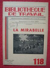 La mirabelle – revue Bibliothèque du Travail N° 118