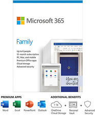 Microsoft 365 Family 1 Year Subscription - Office 365 Home - Read Description!