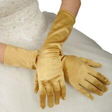 Paire de gants longs satin pour mariage : LONG 40 cm - coloris or