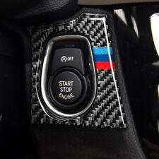 Carbon Fiber Car Start Stop Engine Button Cover Trim M Sport For BMW F30 F34 LHD