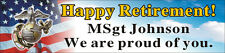 2ftX8ft Custom Personalized Happy Retirement U.S. (US) Marine Corps Banner Sign