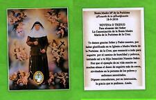 Reliquia – Reliquiario – Santino - Beata Maria Purissima della Croce