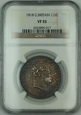 1818 Great Britain 1/2C Half Crown Silver Coin George III NGC VF-35 AKR