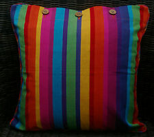 NEW SCATTER CUSHION COVER 40 X 40CM 'KATIE' BRIGHT MEXICAN LOOK STRIPES