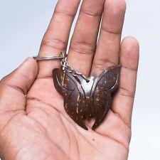 100% Handmede Coconut Shell BUTTERFLY KEY TAG Decor X-Mas Gift Sri Lanka