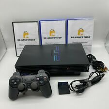 Sony Playstation 2 PS2 FAT Schwarz Konsole + Controller + 3 Gratis Spiele + MC